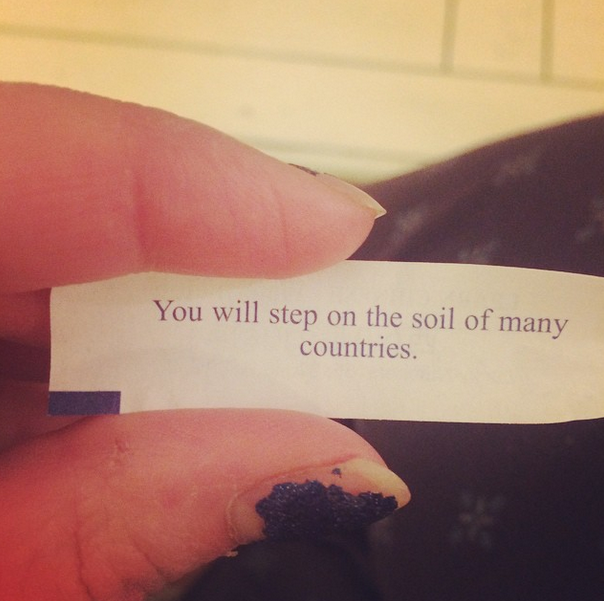 And got an awesome fortune with our Chinese takeout.