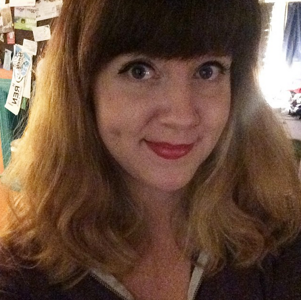 I had a very poofy hair day.