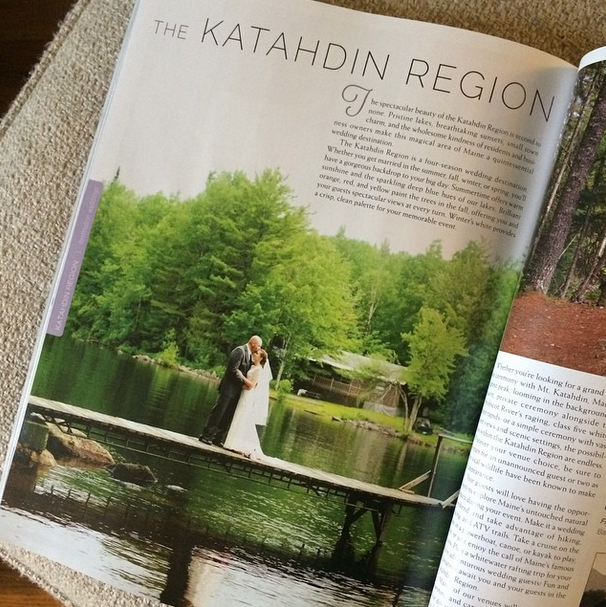 I was featured in a local wedding magazine, Real Maine Weddings -- woo!