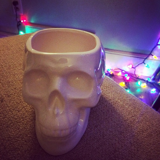My husband gave me another early Christmas present -- the skull planter from one of my Wishlist Wednesdays. <3