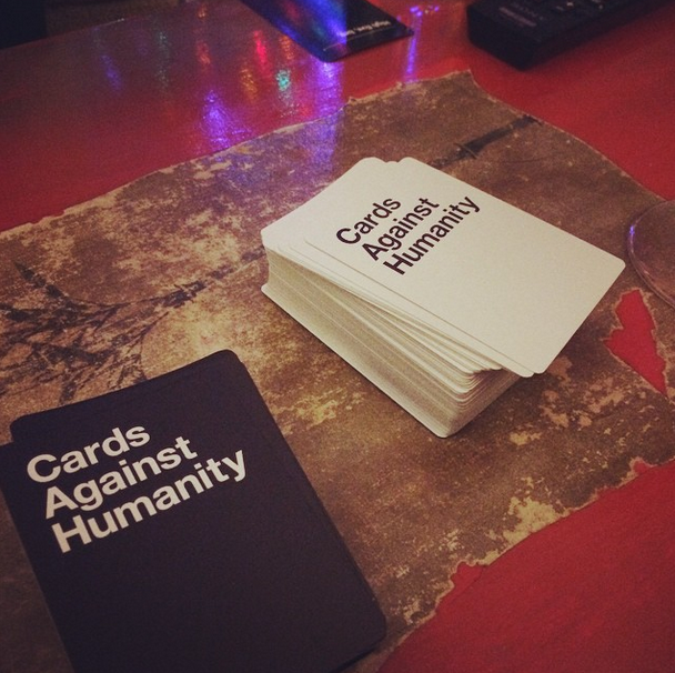 We played a rousing Christmas Eve game of Cards Against Humanity with my Mom.