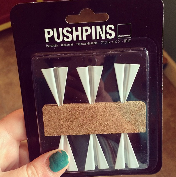 Got these amazing paper airplane push pins for my office!